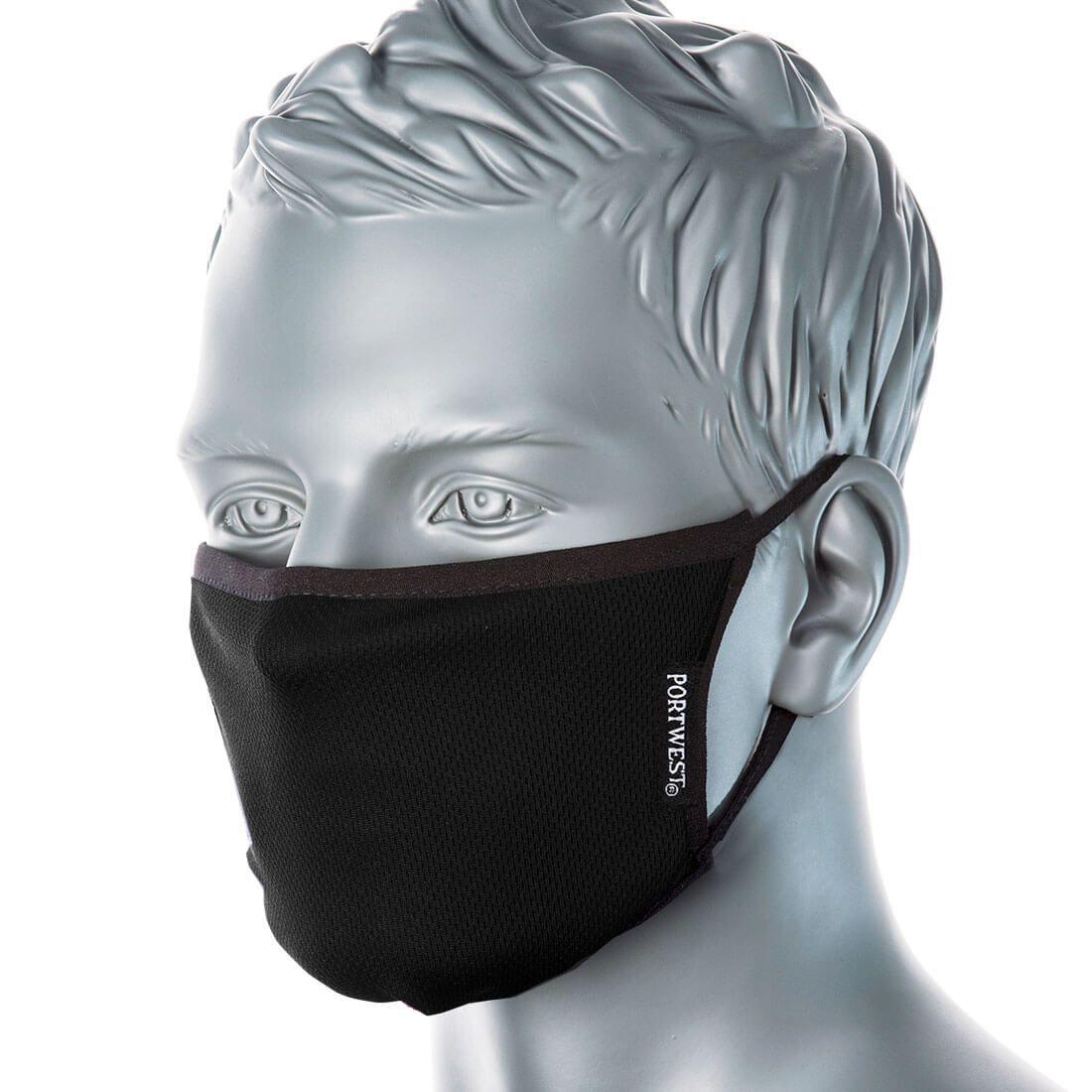 CV33 - 3 rétegű antimikrobiális arcmaszk - fekete