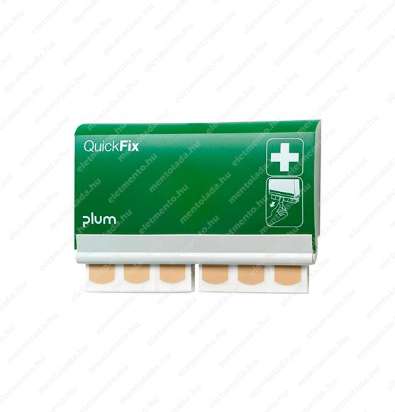 PLUM QuickFix zárható, utántölthetõ ragtapasz adagoló 90 db vízálló bézs tapasszal