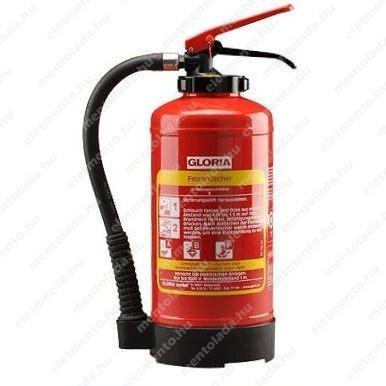 GLORIA 6 L-es olajtűz oltó készülék, fali felfüggesztővel